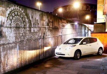 Nissan Leaf London crop